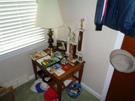 Trophies & collectible golf books & Videos