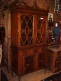 Mahogany china cabinet to a 8 piece suite