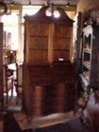 Mahogany secretary desk.