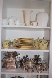 Assorted Serving Pieces and China