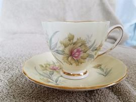 Assorted antique tea cups