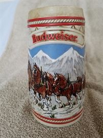 "Budweiser 1985 ""A"" Series Steins"