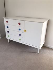 Cute as a button, child Dresser in white, quality made by Little Folks Furniture  $350