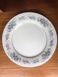 blue china plate