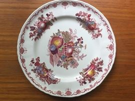 red china plate