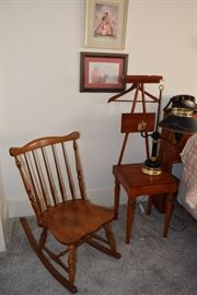 Antique Rocker gentlemens chair