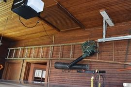 leaf blower- ladder
