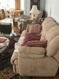 Couch, Rug, Chair, Table w/chairs, Lamp, Side Table and Coffee Table