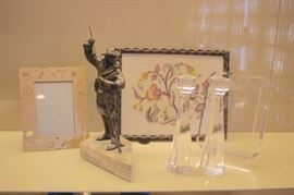 Photo Frames, Small Sculpture and Candlesticks