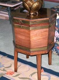 Another antique wine cellarette.