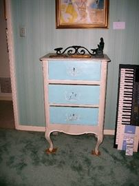 Amall antique French painted chest