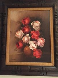 Signed floral Oil Painting