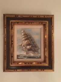 Sailboat Oil Painting
