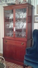 china cabinet filled with breakable treasures!