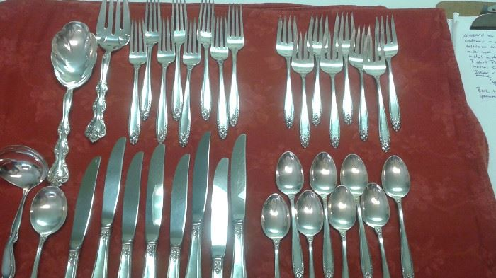 *sold presale* PRELUDE, Sterling Silver flatware serving for 8