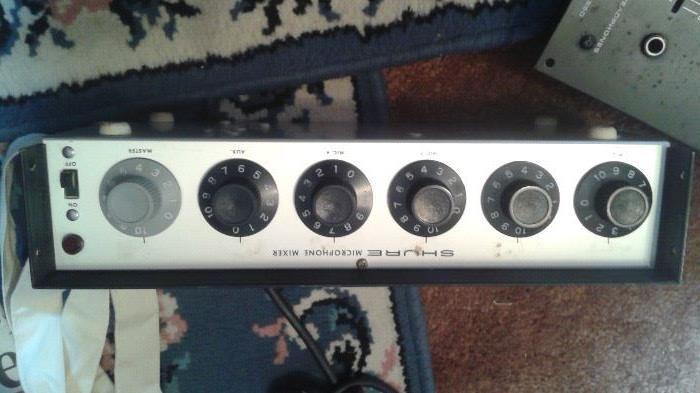 Shure microphone mixer