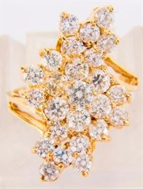 Lot 395 - Jewelry 14kt Yellow Gold Cubic Zirconia Ring