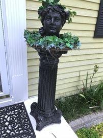 Tall Pedestal & Head Planter