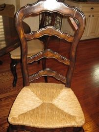 Chair without cushion cover