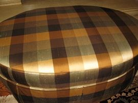 Custom ottoman - silk fabric