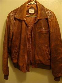 Fabulous custom leather jacket-small
