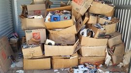 20,000+ 45s As found in storage - Nearly all boxes have deteriorated due to old age.  90% of the records are in excellent condition