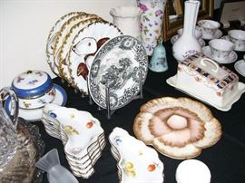 Lovely antique bric a brac of all types - antique oyster plates, etc