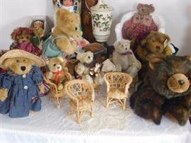 Bear collections: Boyd, Ty, Bearington, Jam Session