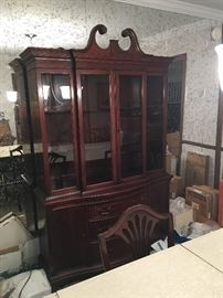 China cabinet for dining room set