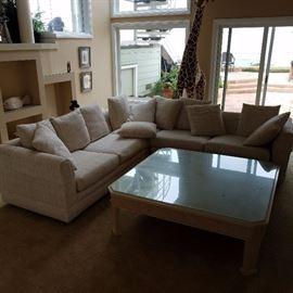 Sectional Sofa & Coffee Table