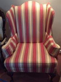 Matching Striped Armchairs.