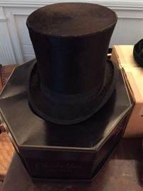 VintageTop Hat, black, Sold by McFarlin's, Rochester, N.Y.