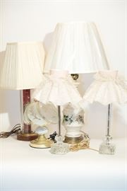 Assortment of Vintage Lamps