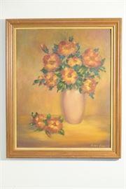 Orignal Helen Cain Acrylic on Canvas Artwork