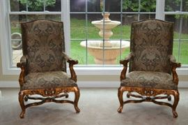 Paisley Print Arm chairs - like new