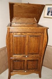 Solid Oak antique bureau.