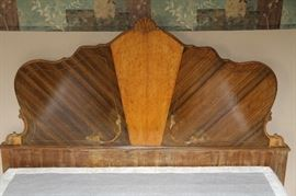 Antique Head board with matching dressers