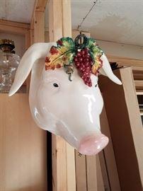 A big fancy Piggy Head....oink!