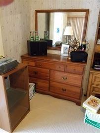 7 Drawer Credenza Dresser with Mirror