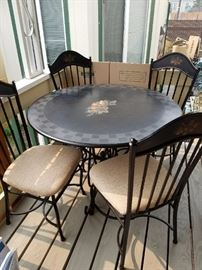 Metal Table and Chairs with lots of Attitude!