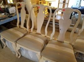 Four French Provincial/Shabby Chic Chairs