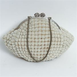 Vintage French Hand Beaded Purse