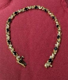 14k Solid Gold Tennis Bracelet