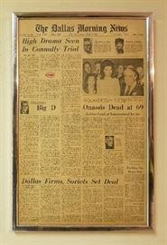 Old Framed Newspaper