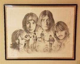 Framed Beatles Print