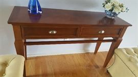 """Cherry console table - $90    53""""W x 31""""H x 18"""" D"""
