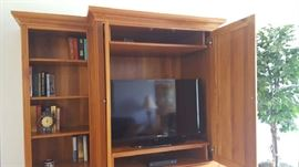 """$425  Cherry stained entertainment center  40"""" Flat screen TV   $175"""