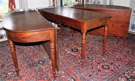 Mahogany & Cherry 3 Part Banquet Table C. 1800-1810