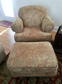 Broyhill Chair and Ottoman