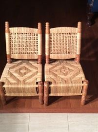 Hand woven chairs